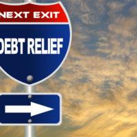 Debt relief sign