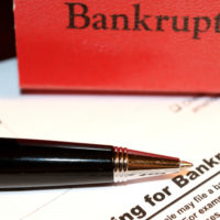 A bankruptcy sign
