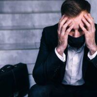 despressed businessman lost all his money due coronavirus crisis